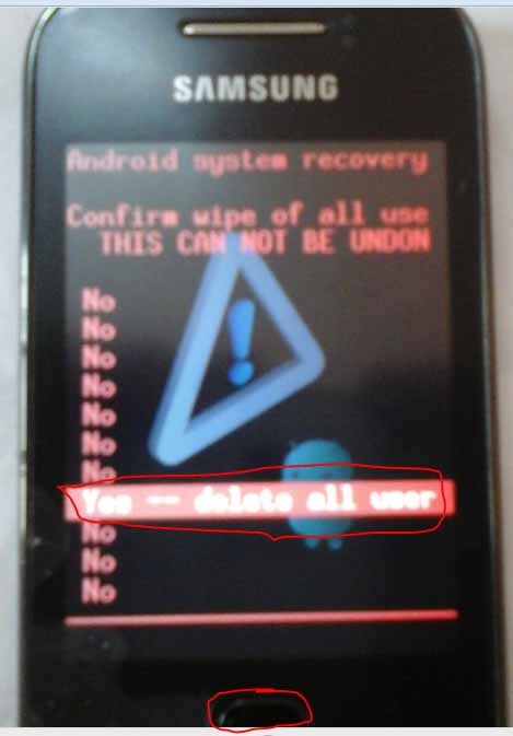 booting of samsung galaxy
