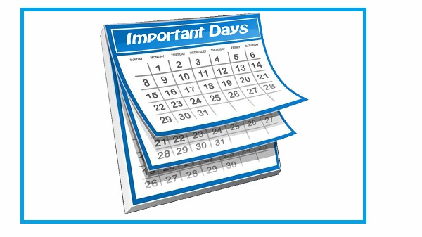 List Of Important Days National And International 2015