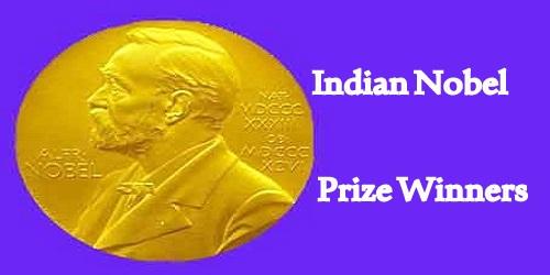 Nobel Prize Winners In India
