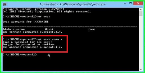 How to Break/Reset Password In Windows 8.1/8/7 Using Command