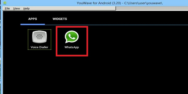 install WhatsApp on YouWave