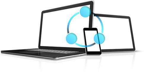 SHAREit file transfer from laptop to laptop