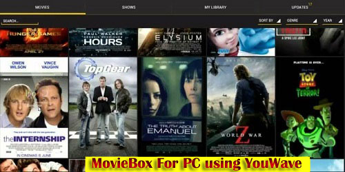 Install MovieBox for windows pc without Bluestacks
