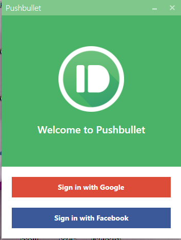Pushbullet for windows